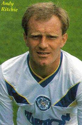 Andy Ritchie And Frank Gray With A Penaltyscored For Leeds